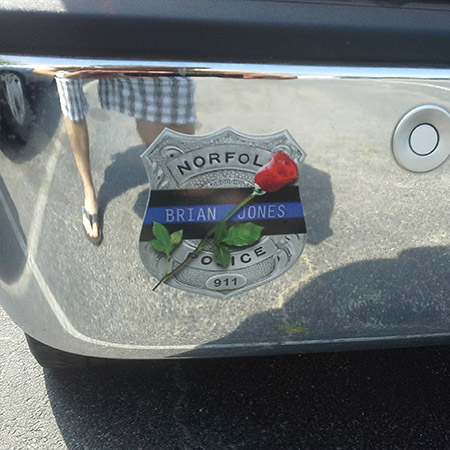 Brian Jones memorial decals for charity